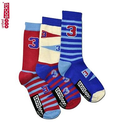 United Oddsocks 12 - 6 UK Size Varsity American Football Design Odd Socks Boys