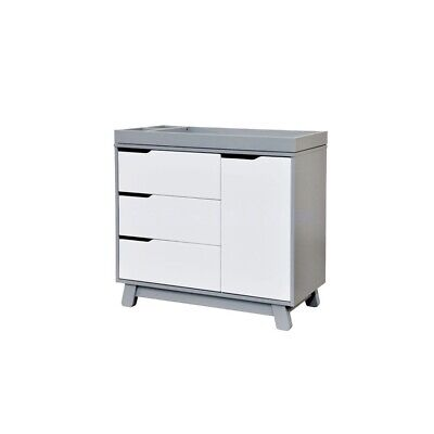babyletto Hudson Changer-Dresser in Two-tone Grey/White - M4223GW