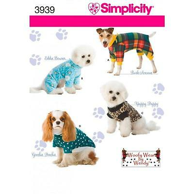 Simplicity Sewing Pattern Dog Clothes In 3 Sizes Woofy Wear By Wendy 3939 A