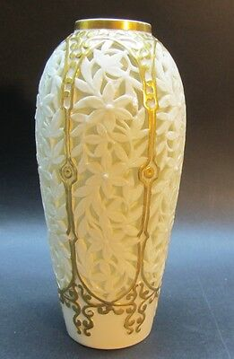 Rare Early Royal Worcester Reticulated Double-Walled Porcelain Vase    antique