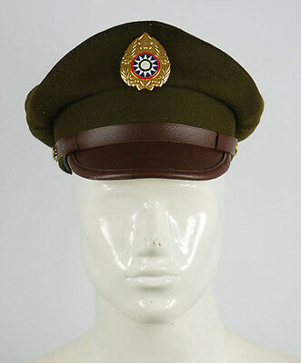 Ww2 Chinese Nationalist Forces Kmt Kuimingtang Army Service Cap Xl-32638