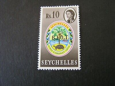 BRITISH INDIAN OCEAN TERRITORY, SCOTT # 15, 10r  1968 ISS OVERPRINTED B.I.OT MLH
