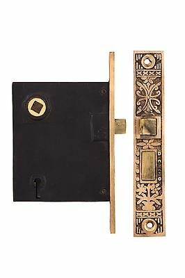 Potted Flower heavy duty mortise lock and strike plate