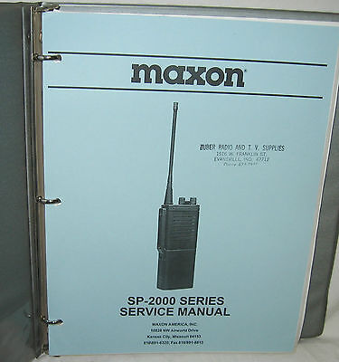 Original MAXON SP-2000 Series Radio SERVICE MANUAL 2850 2550