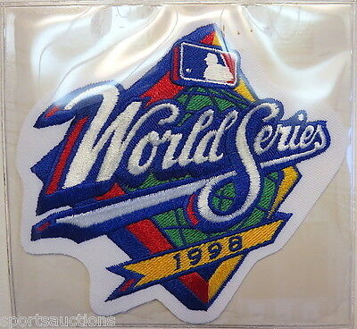 1998 WORLD SERIES ~ NEW YORK YANKEES / SAN DIEGO PADRES Willabee Ward PATCH CARD