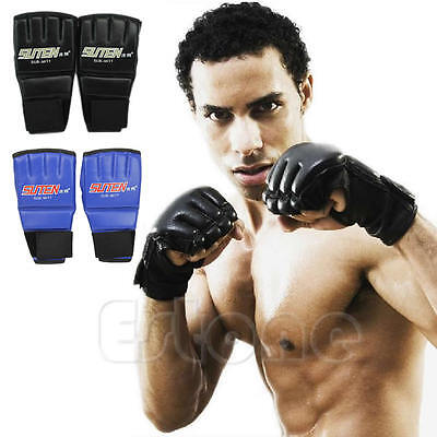 Cool MMA Muay Thai Training Gym Sparring Half Mitts Punching Bag Boxing Gloves