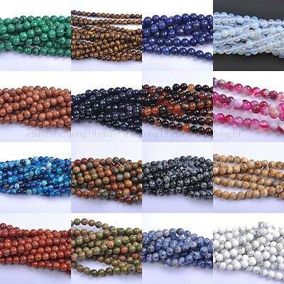 100Pcs lot Natural Gemstone Round Spacer Loose Beads 8MM  Wholesale