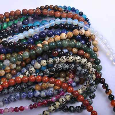 """16"""" lot Natural Gemstone Round Spacer Loose Beads 6MM  Wholesale"""