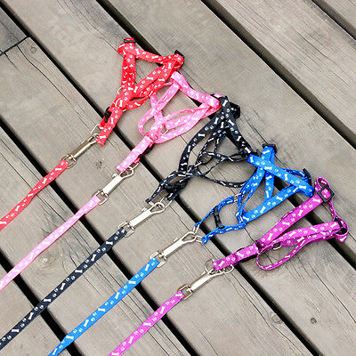 Cute  Pet Dog Puppy Kitten Rabbit Flexible Nylon Harness Collar Leash Wire Top