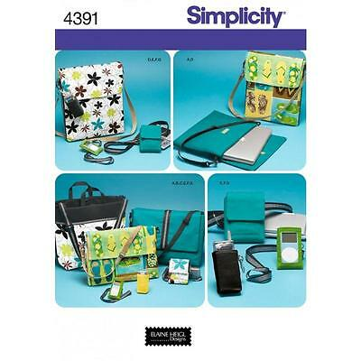 SIMPLICITY SEWING PATTERN Accessories Tech Gear Totes, Bags and Accessories 4391