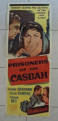 PRISONERS OF THE CASBAH 1953 US INSERT POSTER 36x14 GLORIA GRAHAME