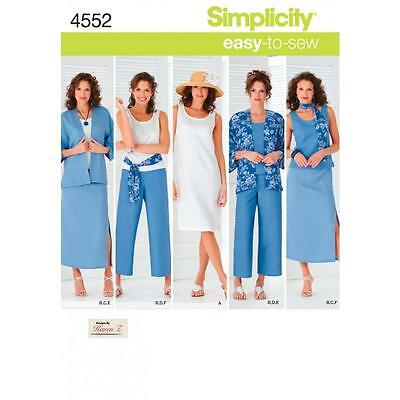 SIMPLICITY SEWING PATTERN Misses\' & Plus Size Smart and Casual Wear ...
