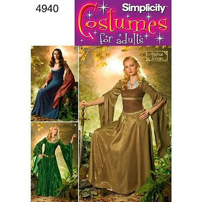Simplicity Sewing Pattern Costumes For Adults Misses Costume Sizes 10 - 26 4940
