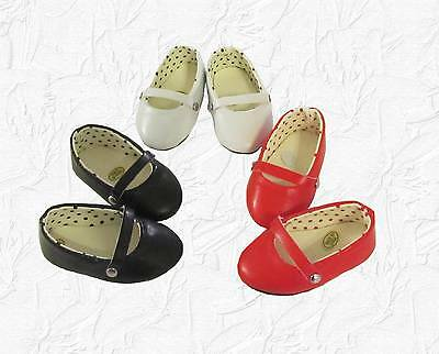 Doll Clothes Shoes Set of 3 Ballet Style BWR fit 18 inch American Girl