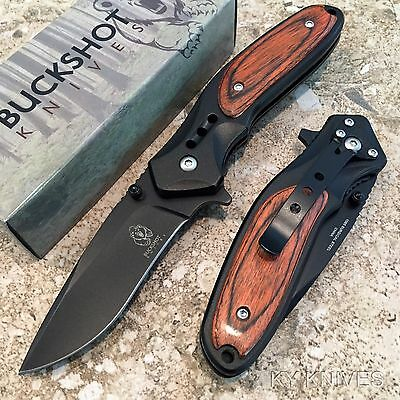 BUCKSHOT Classic NEW Tactical Spring Assisted Open Pocket Knife 8204-WD