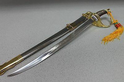 """24"""" Silver & Gold Marine Dress Sword Stainless Steel with Sheath 6974 zix"""
