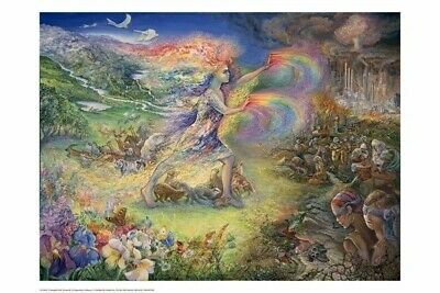 JOSEPHINE WALL ~ NO MORE! 24x36 FANTASY ART POSTER Mother Nature Fairy Fairies