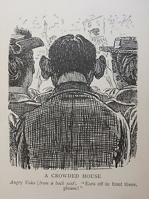 Theatre & Play Theme A CROWDED HOUSE BIG EARS IN AUDIENCE Antique Punch Cartoon