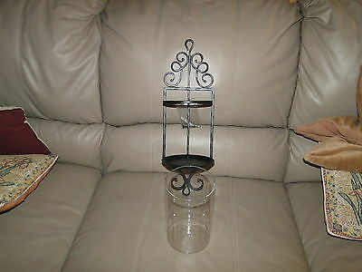 Longaberger Basket Wrought Iron Hammered Metal Wall Sconce ~NEW~ W@W ~