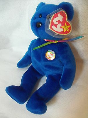 "TY Beanie Babies 8"" Beanie Club Teddy Bear ** Clubby **  5th Gen New w/ Tag"