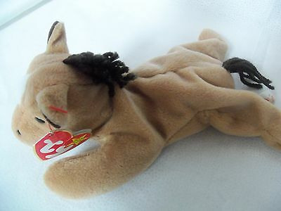 TY Beanie Babies Horse w/ Yarn Mane & Tail ** DERBY**  4th Gen New w/ Tag