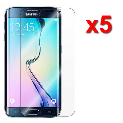 5X Crystal Clear LCD Screen Protector Film For Samsung Galaxy S6 Edge Accessory