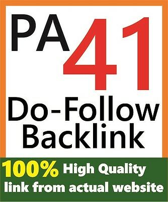 1 Backlink from PA 41 & DA 30 Actual Website High CF, TF Very High Quality Link