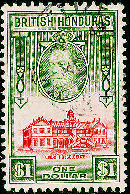 Sg159, $1 scarlet & olive, VERY FINE used. Cat £10.