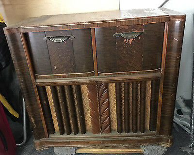 antique zenith console record player wavemagnet for parts