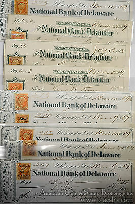Obsolete Bank Check National Bank Delaware Washington Dealer Wholesale Lot 10.