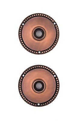 Antique copper Beaded 3 Inch Rosette for modern doors