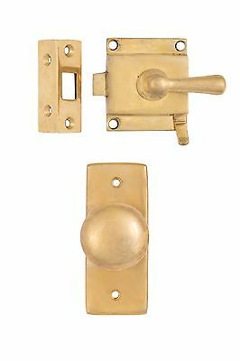 Cast Brass Screen Storm Rim Lock Door Set