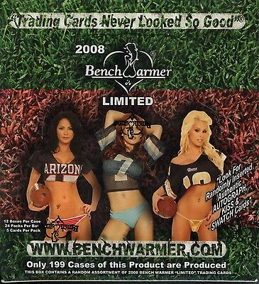 BENCHWARMER 2008 Limited Edition Trading Card Hobby Box MINT 2 Autographs