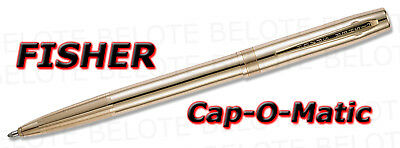 Fisher Lacquered Brass Cap-O-Matic Space Pen M4G *NEW*
