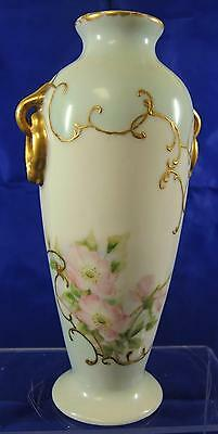 Antique Hand Painted Wild Roses Vase