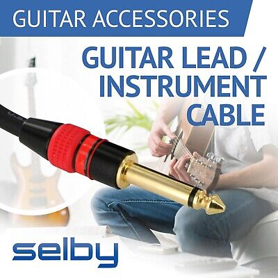 """Electric Guitar Lead Cord Cable 6.35mm 1/4"""" Jacks for Amp / Pedals / Instrument"""