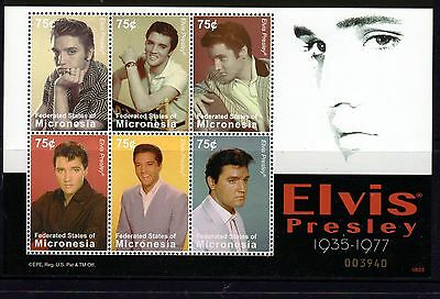 Micronesia 2007 Elvis Presley 30th Anniversary Death Sheetlet 6 MNH