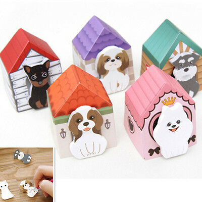 Cat Puppy House Sticky Notes Tab Note Paper Diary Notebook Memo Pad Book Marker