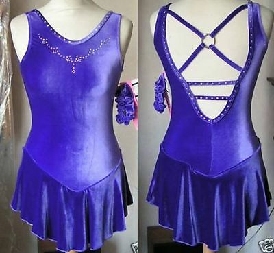 NEW Stoned GK Elite Velvet Ice Skating Dress - Child Large, Adult XS & Adult SM