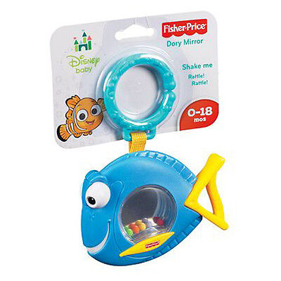 Fisher Price Finding Nemo Dory Mirror Rattle Disney Baby Toy 0+