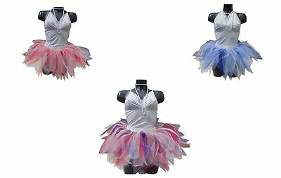 Neon Tutu Skirt 80's Fancy Dress USA Red White Blue THEMED HEN PARTY FUN RUN