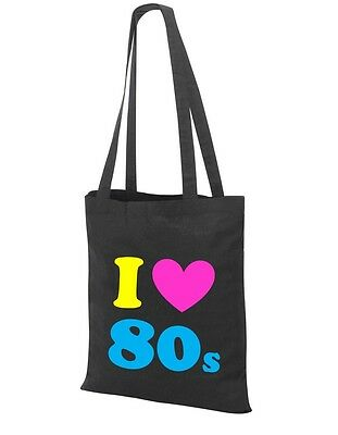 I Love The 80s Tote Bag - 80's Fancy Dress Costume Outfit Neon Party Shoulder