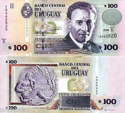 URUGUAY 100 Pesos Banknote World Money Currency BILL p88a Note South America