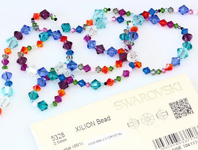 Genuine SWAROVSKI 5328 XILION Bicone Crystals Beads * Many Sizes & Colors