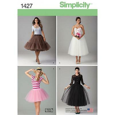Simplicity Sewing Pattern Misses' Tulle Skirt In 3 Lengths  Size 4- 22 1427