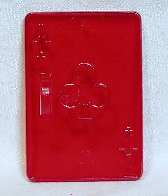 Vintage Design HRM Red Cookie Cutter - Playing Card Ace Clubs Casino Poker Club