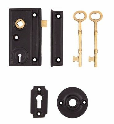 Narrow Door Rim Lock for double french doors