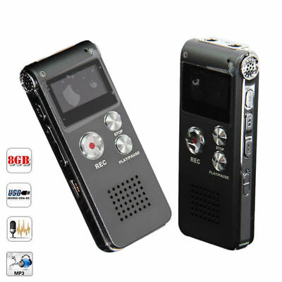 1160 Hours Record 8GB Steel Digital Voice Sound Recorder Dictaphone MP3 Player
