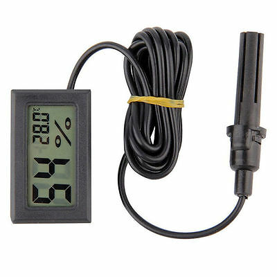New Mini Thermometer Hygrometer Temperature Humidity Meter Digital LCD Display