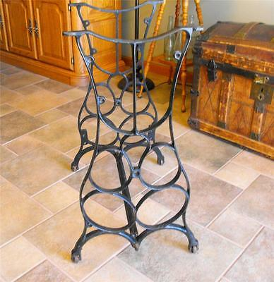 Antique Sewing Machine Cast Iron Table Legs Industrial Steampunk